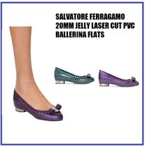 [SALVATORE FERRAGAMO] 20MM JELLY LASER FLATS (送料関税込み)