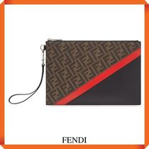 FENDI FLAT SLIM CLUTCH