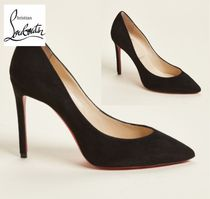 CHRISTIAN LOUBOUTIN☆Black Pigalle Pointed Toe Suede Pumps