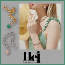 日本未入荷 Hei★ gemstone toggle necklace