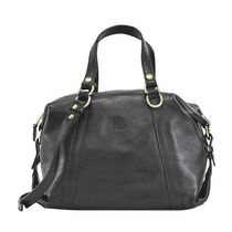 IL BISONTE ハンドバッグ A2893 EP 153 BLACK COWHIDE LEATHER