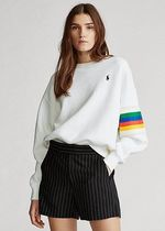 ラルフローレン Rainbow-Trim Fleece Sweatshirt