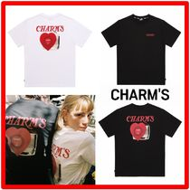 Charm's(チャームス) Tシャツ・カットソー 韓国の人気☆【CHARM'S】☆CHARMS☆Record Print T shirts☆2色