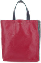MARNI□TWO-TONE LEATHER LARGE MUSEO SHOPPING BAG