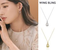 ★ WING BLING ★ OLLY 水滴 ネックレス (2 COLOR)