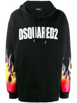 D SQUARED2ディースクエアードFlame Logo Hoodieトレーナー