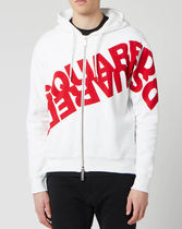 D SQUARED2ディースクエアードMirror Logo Zip Hoodieトレーナー