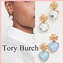 Tory Burch Kira Heart ハートピアス 2色 Crystal Blue 送料込