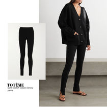 [TOTEME] Cork stretch-crepe skinny pants 送料関税込
