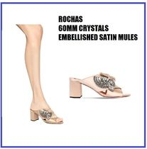 [ROCHAS] 60MM CRYSTALS EMBELLISHED MULES (送料関税込み)