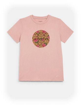 【Coach】ロゴTシャツ Signature Floral T-Shirt