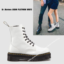 Dr Martens★JADON 8EYE BOOT★厚底★ジッパー★WHITE