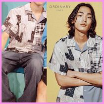 ORDINARY PEOPLE(オーディナリーピープル) シャツ ORDINARY PEOPLE SEVENTEENバーノン着用 MIX AND MATCH PAISLEY