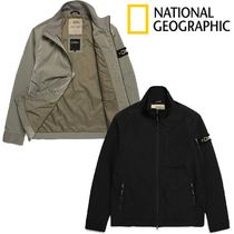 ★NATIONAL GEOGRAPHIC★Stand Collar Nylon Jumper 2色