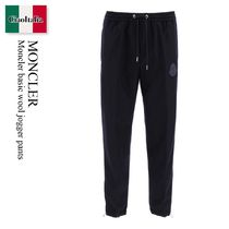 Moncler basic  ATHLETIC TROUSERS wool jogger pants
