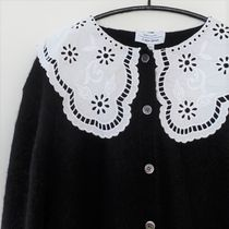 """""""& Other Stories"""" Cropped Textured Cotton Cardigan Black"""