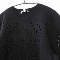 """""""& Other Stories"""" Embroidered Jacquard Knit Sweater Black"""