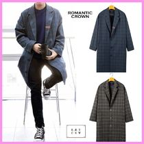 ☆ROMANTIC CROWN☆ユビン着用☆FRIDAY THREE BUTTON CHECK COAT