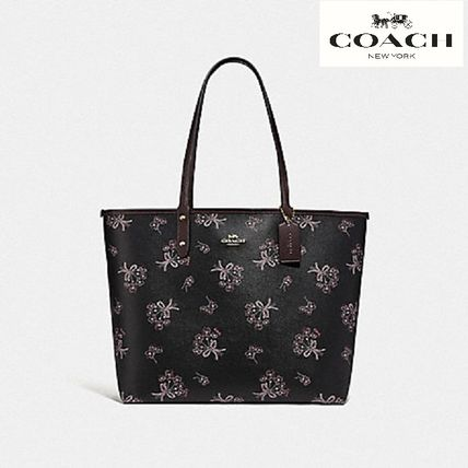 【COACH】REVERSIBLE CITY TOTE WITH RIBBON BOUQUET F78283