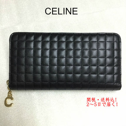 国内即発 CELINE 10B553BFL.38NO Large Zipped Wallet 長財布 黒