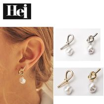☆Hei☆ ピアス knot pearl post earring 全2色