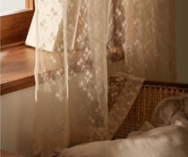 【DECO VIEW】Petit Tulip Lace Small Window Curtain