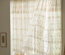 【DECO VIEW】Beige snowflake embroidered shade curtain