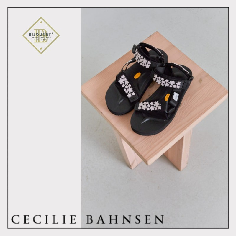 *CECILIE BAHNSEN* マリア ビーズ スポサン フラット ピンク (CECILIE BAHNSEN/サンダル・ミュール) 57475289