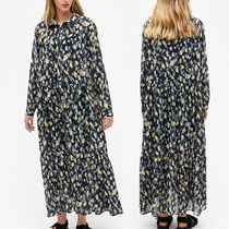 """MONKI"" Maxi shirt dress Print"