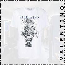 【VALENTINO】20FW◇Floral Bouquet ロゴ Tシャツ ホワイト