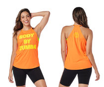 ◆8月新作◆Zumba Glow Mesh Tank-Orange You Hot