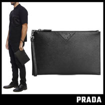 【PRADA】Saffiano Leather Logo クラッチバック