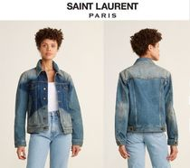 SAINT LAURENT☆Star Light Wash Boyfriend Denim Jacket