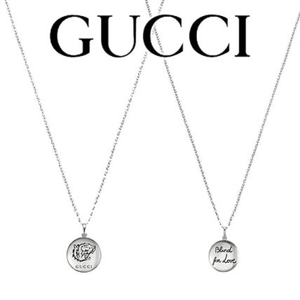 "【GUCCI】""Blind For Love"" necklace★シルバー★追跡付"