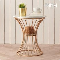 LOJECASA(ロジェカサ) 机・テーブル 【LOJECASA】Olive Gold Marble Round Tea Table