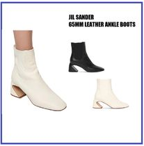 [JIL SANDER] 65MM LEATHER ANKLE BOOTS (送料関税込み)