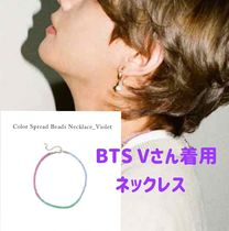 [VINTAGE HOLLYWOOD] Color Spread Beads Necklace_Violet