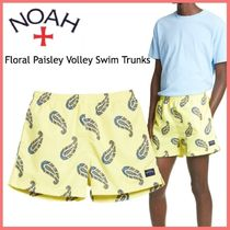 20AW◆ショップ限定◆Noah◆Floral Paisley Volley Swim Trunks