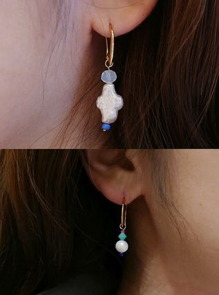 VINTAGE HOLLYWOOD ピアス 【Vintagehollywood】Unbalance Beads Hook Earring(3)