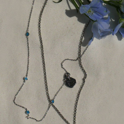 VINTAGE HOLLYWOOD ネックレス・ペンダント 人気![Silver925]Crystal Seed Necklace_Blue/VINTAGE HOLLYWOOD(2)