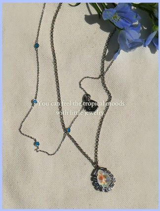 VINTAGE HOLLYWOOD ネックレス・ペンダント 人気![Silver925]Crystal Seed Necklace_Blue/VINTAGE HOLLYWOOD(4)