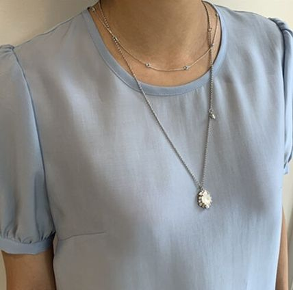 VINTAGE HOLLYWOOD ネックレス・ペンダント 人気![Silver925]Crystal Seed Necklace_Blue/VINTAGE HOLLYWOOD(5)