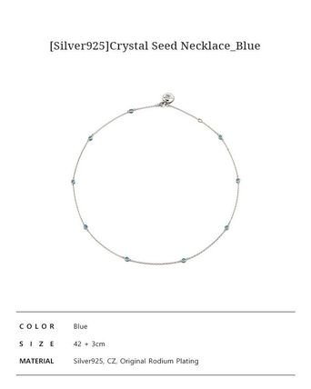 VINTAGE HOLLYWOOD ネックレス・ペンダント 人気![Silver925]Crystal Seed Necklace_Blue/VINTAGE HOLLYWOOD(6)