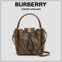 BURBERRY★モノグラムEキャンバスバケットバッグ