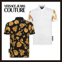 【Versace Jeans Couture】ポロシャツ 半袖 バロックプリント