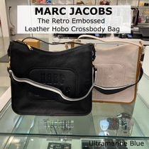 MARC JACOBS☆The Retro Embossed Leather Hobo Crossbody Bag☆