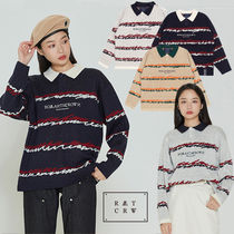 ★ROMANTIC CROWN★日本未入荷 COLOR WAVE KNITTED POLO SHIRTS