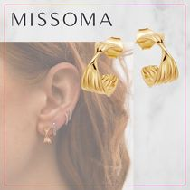 【MISSOMA】small texture wave hoops フープピアス