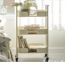 【DECO VIEW】Natural 3-tier mobile trolley