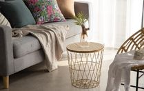 【DECO VIEW】Gold wire storage side table M